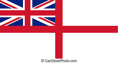 Flag of the United Kingdom (White Ensign). - Naval ensign of...