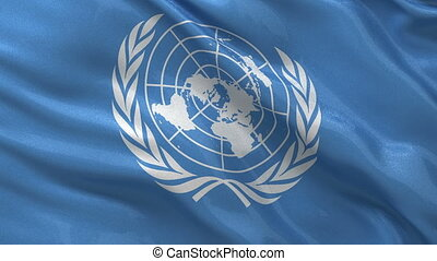 Flag of the United Nations loop