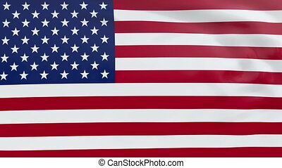 Flag of the United States of America - High quality looped...