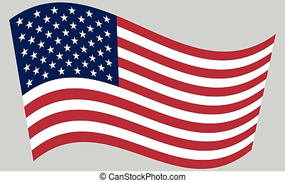 Flag of the United States waving