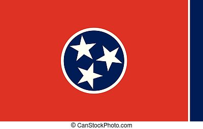 Flag of the US State of Tennessee, detailed vector
