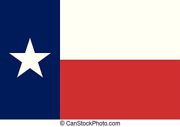 Flag of the US State of Texas, detailed vector