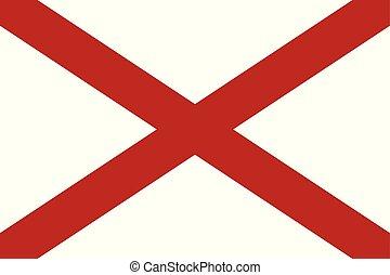 Flag of the USA State of Alabama, vector.
