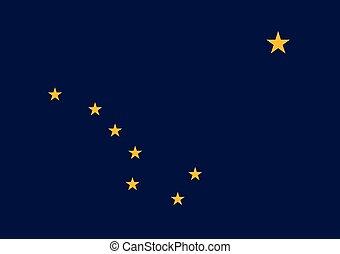 Flag of the USA State of Alaska, vector.