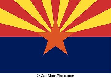 Flag of the USA State of Arizona, vector.
