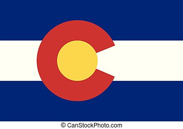 Flag of the USA State of Colorado, vector.