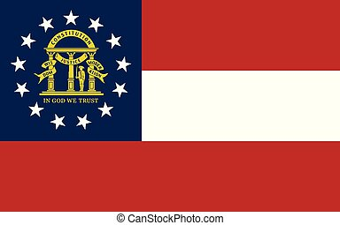 Flag of the USA State of Georgia, vector