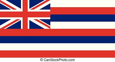 Flag of the USA State of Hawaii, vector.