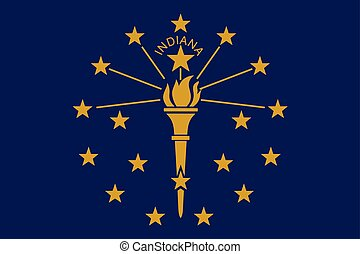 Flag of the USA State of Indiana, vector