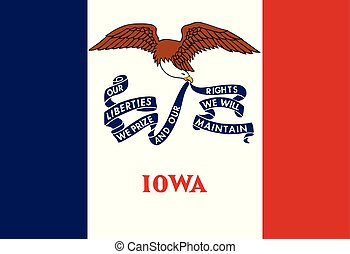 Flag of the USA State of Iowa, vector.