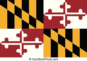 Flag of the USA State of Maryland, vector.