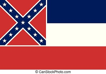 Flag of the USA State of Mississippi, vector