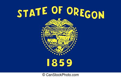 Flag of the USA State of Oregon, vector