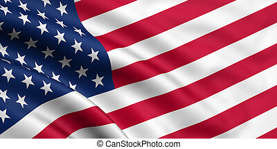 Flag Of The USA - 3d rendered flag of the USA