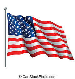 Flag of the USA - Vector illustration of flag of the USA