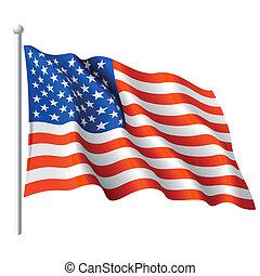 Flag of the USA - Vector illustration of flag of the USA