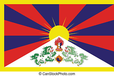 Flag of Tibet between 1912 and 1959