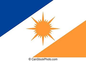 Flag of Tocantins State, Brazil. Vector Format