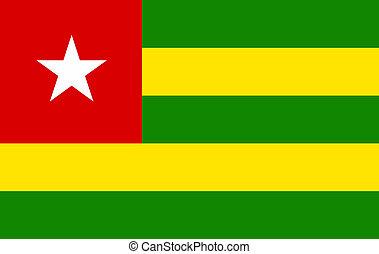 Flag of Togo. Vector illustration