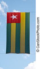 Flag of Togo vertical