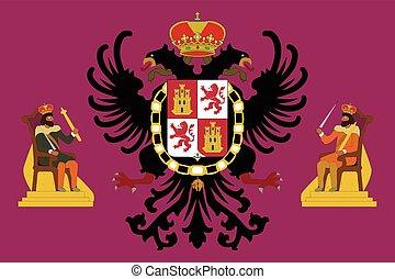 Flag of Toledo, Spain. Vector Format