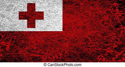 Flag of Tonga.