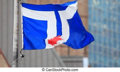 Flag of Toronto, Canada - The national flag of the city of...