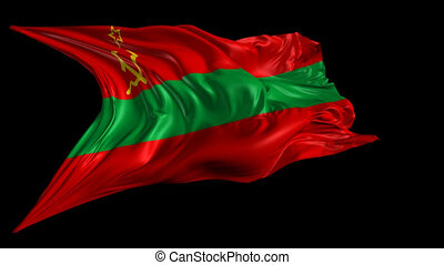 Flag of Transnistria - Beautiful 3d animation of...