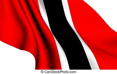 Flag of Trinidad and Tobago against white background.