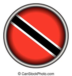 Flag of Trinidad and Tobago - Isolated flag of Trinidad and...