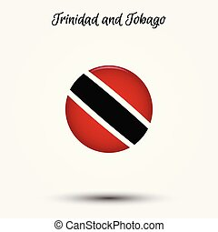 Flag of Trinidad and Tobago icon. Vector illustration. World...