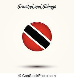 Flag of Trinidad and Tobago icon. Vector illustration. World...