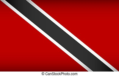 Flag of Trinidad and Tobago. Vector illustration. Patriotic ...