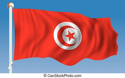 Flag of Tunisia - vector illustration