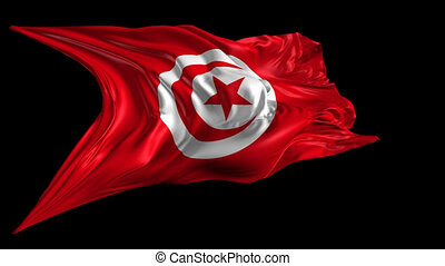 Flag of Tunisia - Beautiful 3d animation of Tunisia flag...
