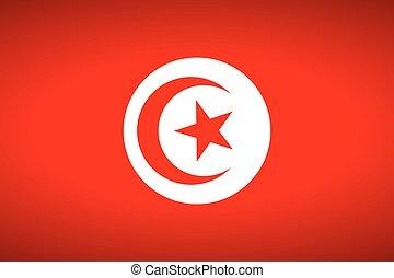 Flag of Tunisia.
