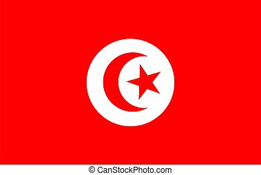 Flag of Tunissia. Vector illustration