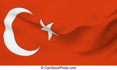 Flag of Turkey - Flag of the Turkey waving in the wind....