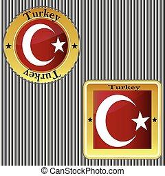 Flag of Turkey.