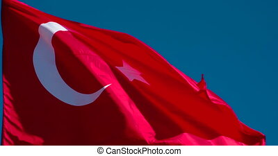 Flag of Turkey Fluttering in the Wind - The Big State Flag...