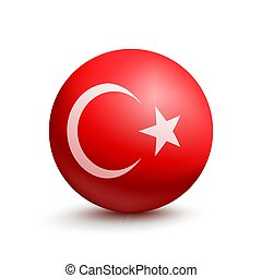 Flag of Turkey in the form of a ball
