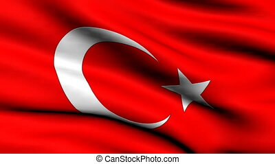Flag of Turkey looping background