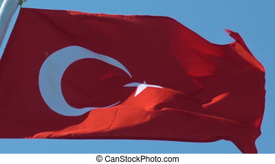 Flag of Turkey - Turkish flag in the wind