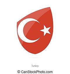 Flag of Turkey. Turkish Rugby flag.