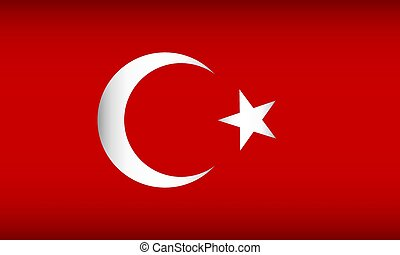 Flag of Turkey.