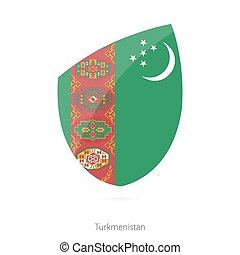 Flag of Turkmenistan.