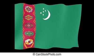 Flag of Turkmenistan. Waving flag - Flag animation Useful...