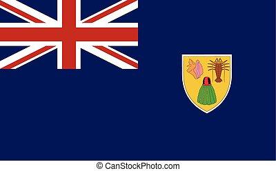 Flag of Turks and Caicos Islands - Turks and Caicos Islands...
