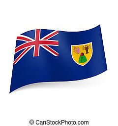 Flag of Turks and Caicos Islands - Flag of Overseas British...