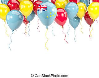 Flag of tuvalu on balloons